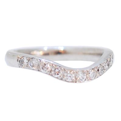 Bespoke diamond wedding ring, handmade shaped wedding band