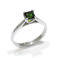 green tourmaline gemstone proposal engagement ring