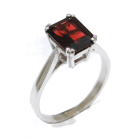 Garnet gemstone proposal ring, temporary engagement ring