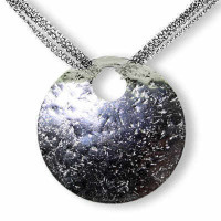 Glitter Ball Multi Chain Silver Necklace