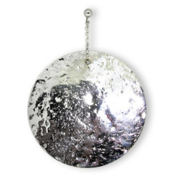 Glitter Ball Silver Earrings (medium)