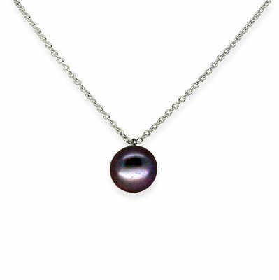 Single Pearl in Black Peacock Purple (extra small)