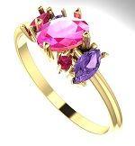 Pink Atlantis Engagement Ring