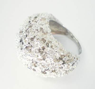 Silver Bombe Ring