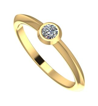 Lucy. Diamond and Yellow Gold Engagement Ring