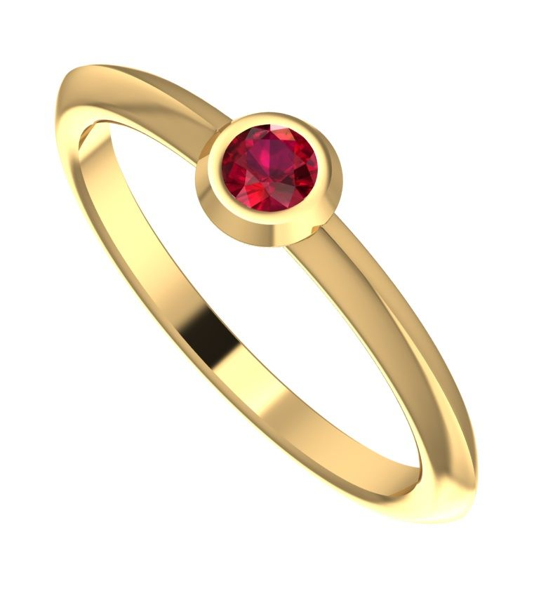 Lucy, Yellow Gold Ruby Engagement Ring
