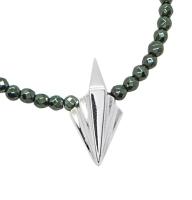 Small Art Deco Style Silver Pendant