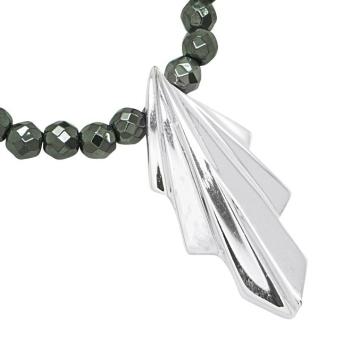 Art Deco pendant set on a black onyx gemstone necklace
