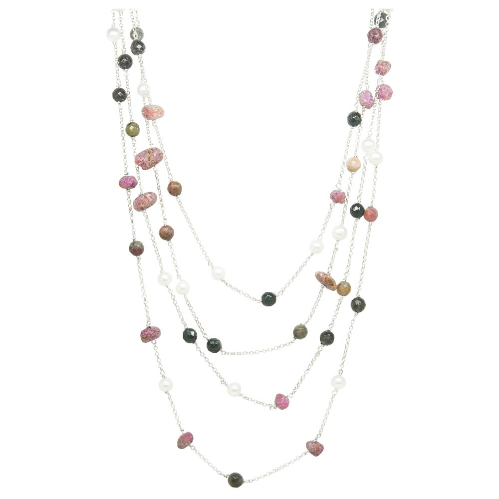 Rainbow Rocks Gemstone Necklace