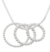 Little Bubbles Trios Silver Pendant