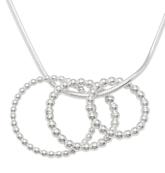 Little Bubbles Trios Silver Pendant