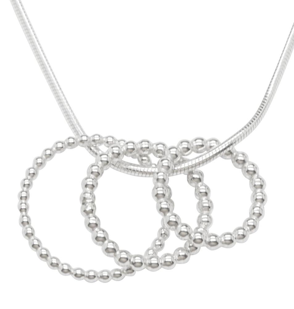 Bubbles silver pendant