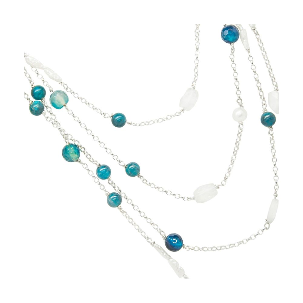Blue Lagoon Rainbow Rocks Necklace