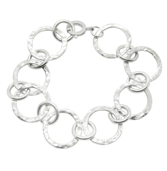 Vanilla Link Bracelet - Handmade silver bracelet