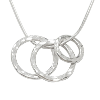 Vanilla Links Triple Link Silver Necklace
