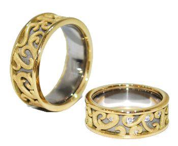 Bespoke Wedding Rings, custom made wedding rings, handmade wedding rings