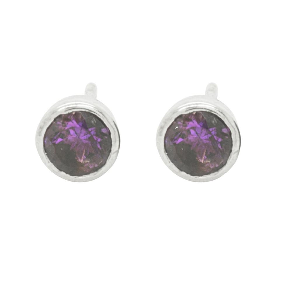 Iolite Gemstone Earring Studs
