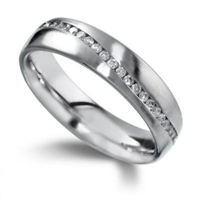 Diamond Wave Eternity Ring