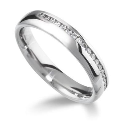 Side Channel Half Eternity Ring