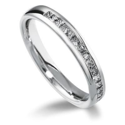 Half Eternity Princess Cut Diamond Ring