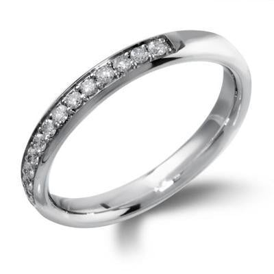 Grain Set Half Eternity Diamond Ring