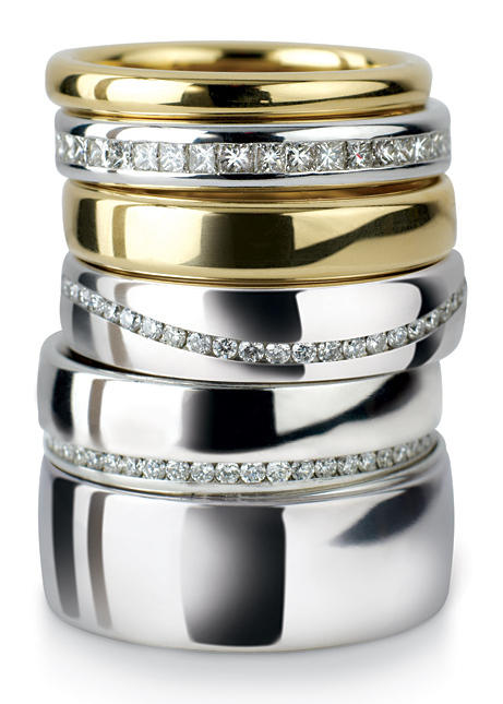 Wedding Rings stacked