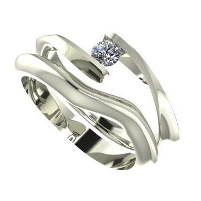 bespoke white gold and diamond engagement and wedding ring set