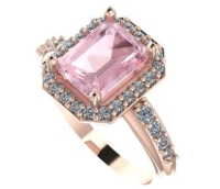 Bespoke Engagement Ring - Morganite, diamond, rose gold Ruth ring