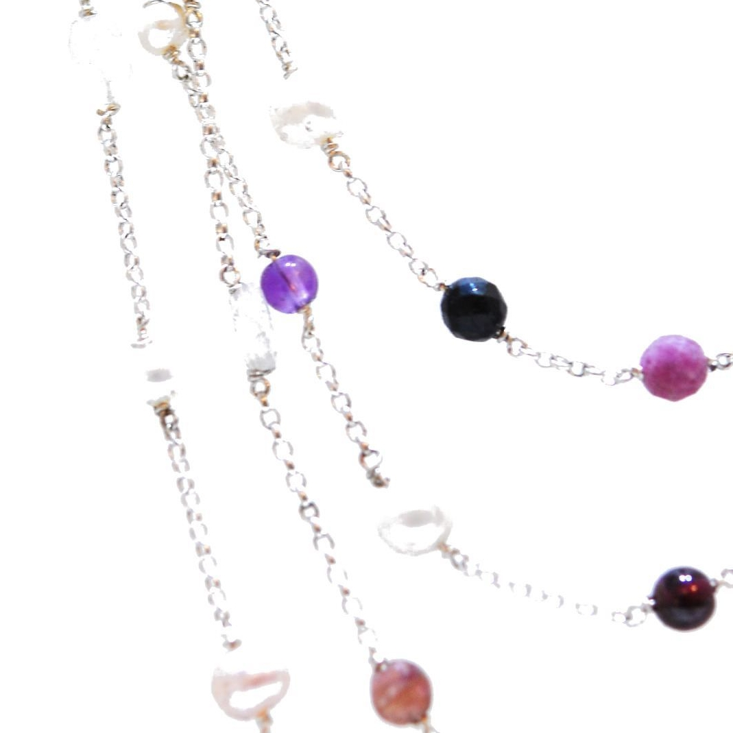 ruby and gemstone necklace