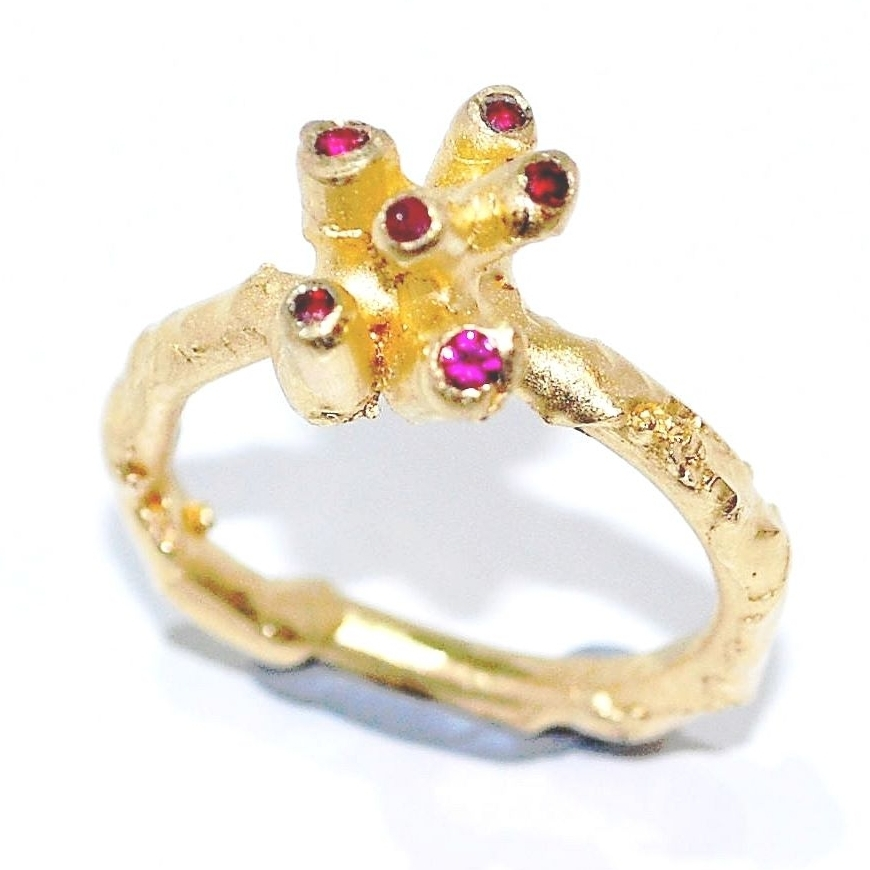 Organic, unusual ruby engagement ring, unique and handmade engagement ring, an alternative engagement ring