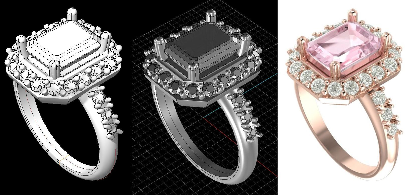 How to commission a piece of jewellery - CAD image