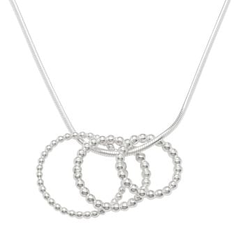 triple bubble silver pendant sm