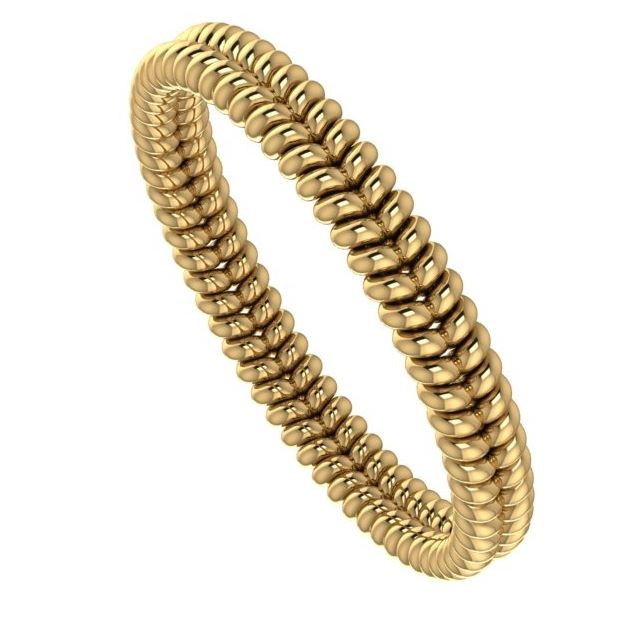 unique yellow gold twisted wedding ring