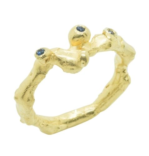 Unique and unusual sapphire engagement ring, an alternative engagement ring