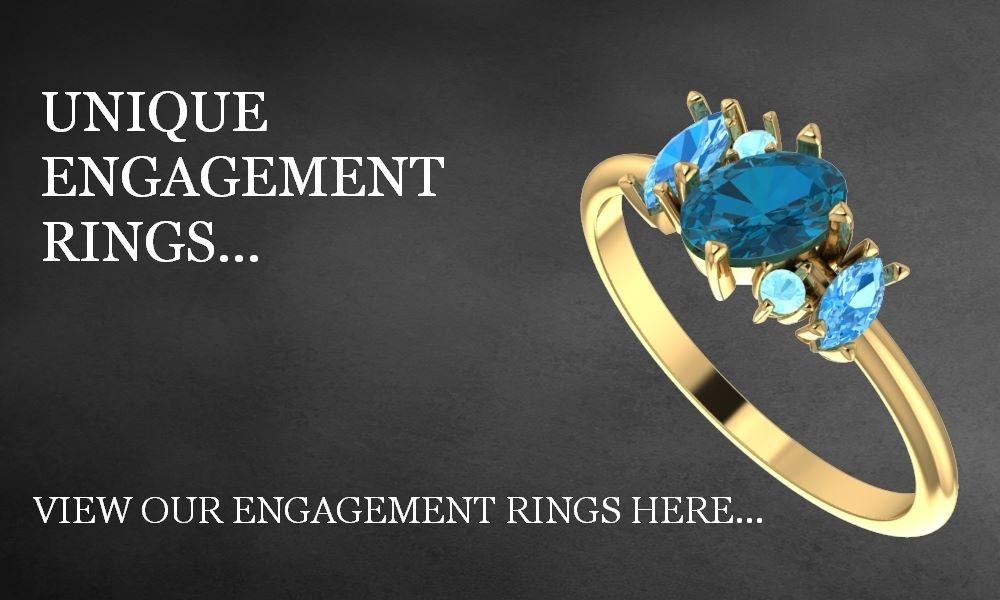Unique engagement rings, unusual engagement rings