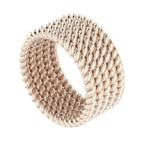 Twisted Up - 5 strand ring (rose gold) wedding ring