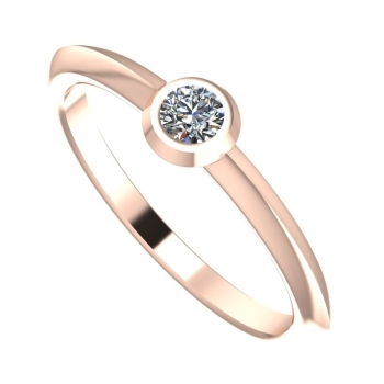 Siimple rose gold and diamond engagement ring