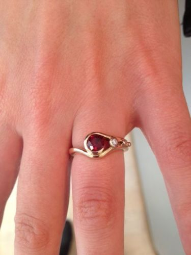 Bespoke rose gold and ruby engagement ring
