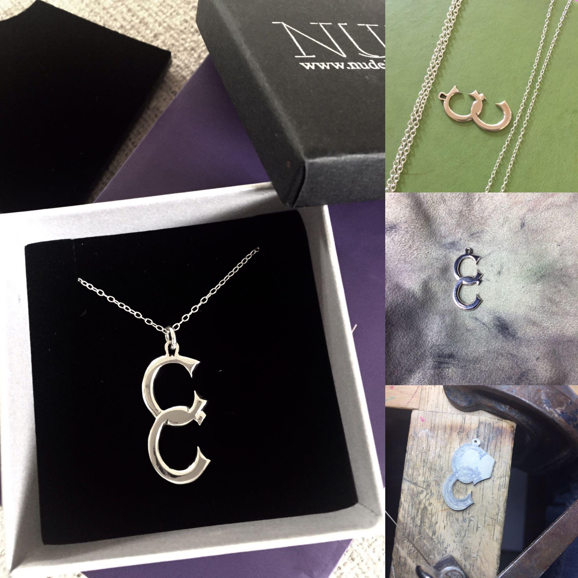 bespoke handmade silver pendant