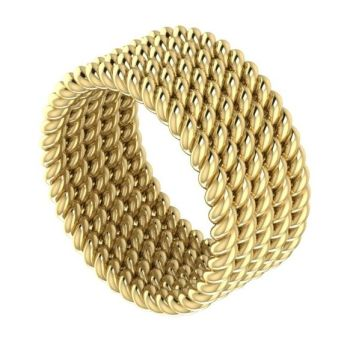 Twisted Up - 5 strand ring (yellow gold) wedding ring