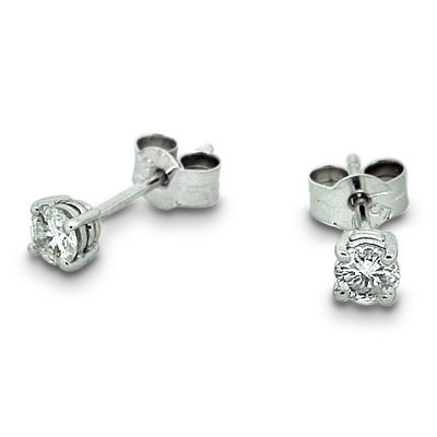 Diamond Stud Earrings - .50 total carat weight