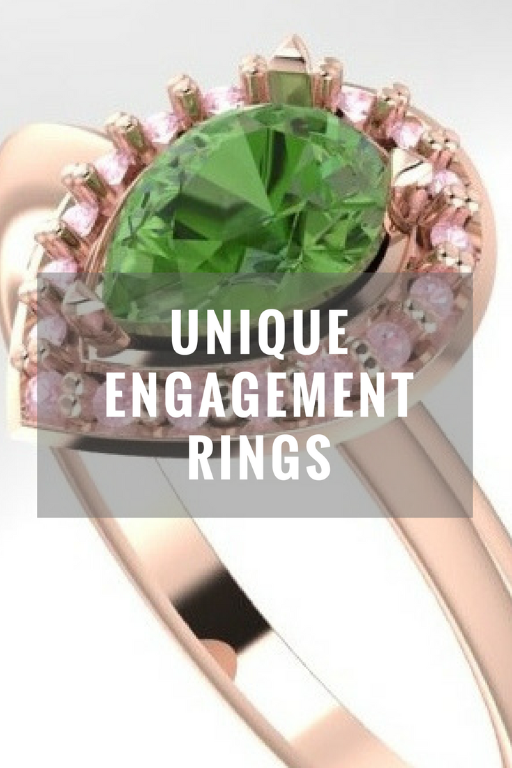 Unique engagement rings, handmade engagement rings