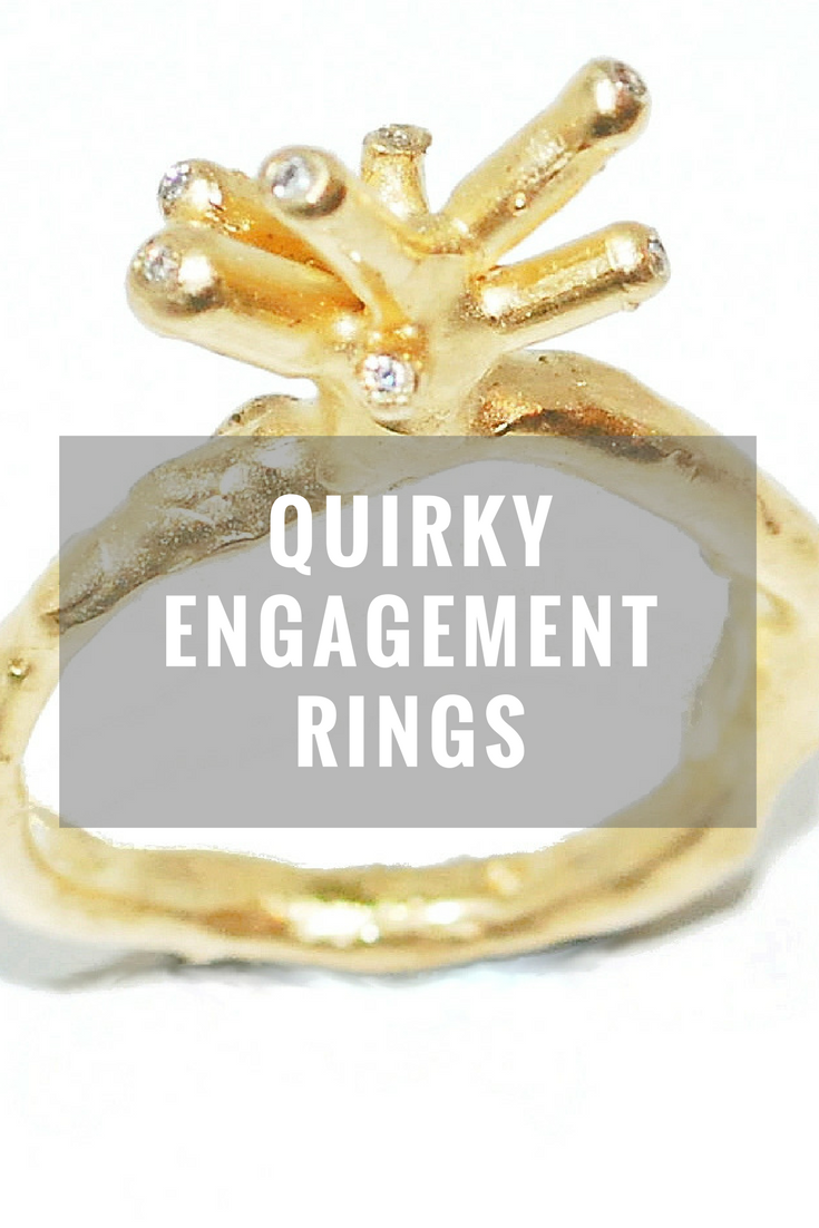 quirky engagement rings, unusual engagement rings, quirky diamond rings