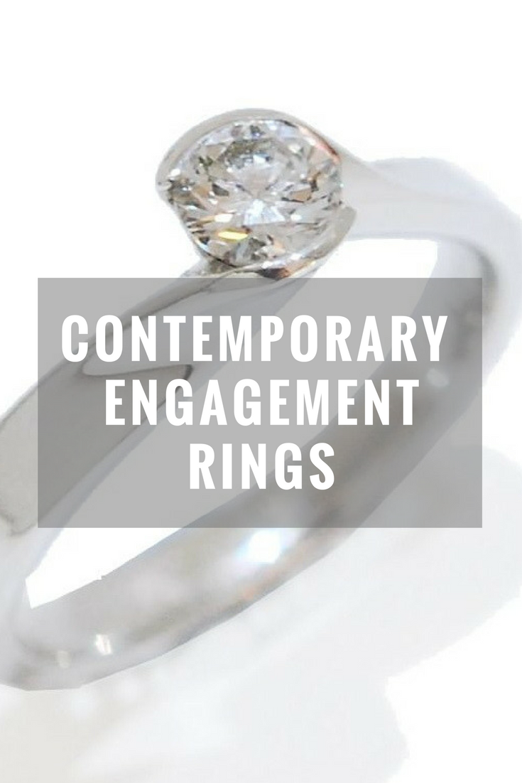 contemporary engagement rings, designer engagement rings, modern diamond rings