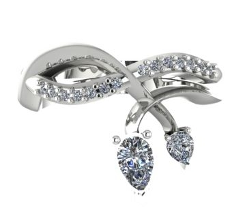 Entwined, White gold with diamonds
