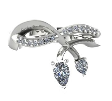 Entwined: White Gold with Diamonds