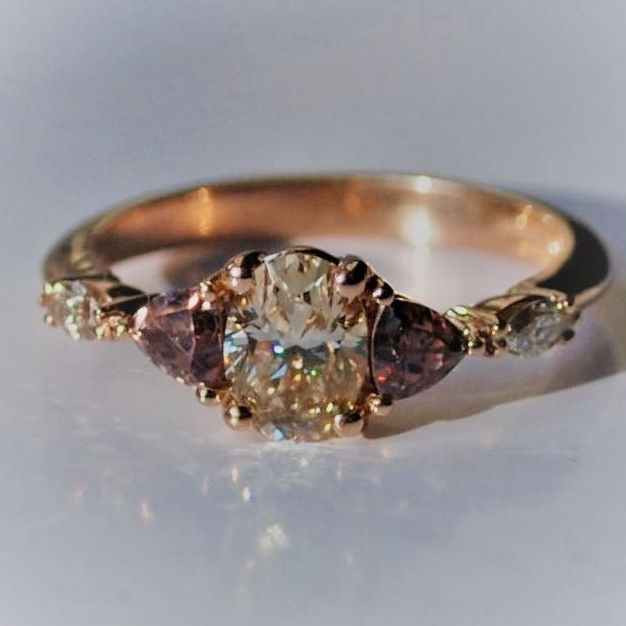 Minal's bespoke rose gold with champagne diamonds
