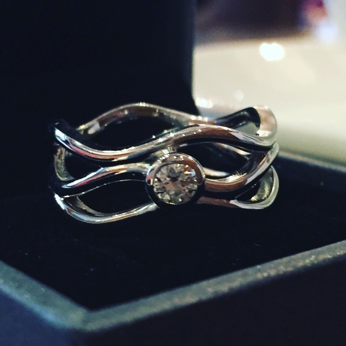 Felicity's bespoke engagement ring