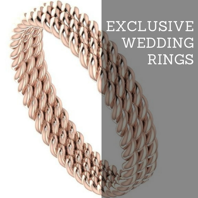 Exclusive, contemporary, unique wedding rings