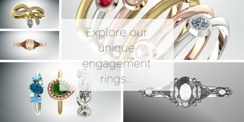 Explore our unique engagement rings